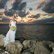 Krysty sparkles wearing Mori Lee at her wedding in Key West, Florida