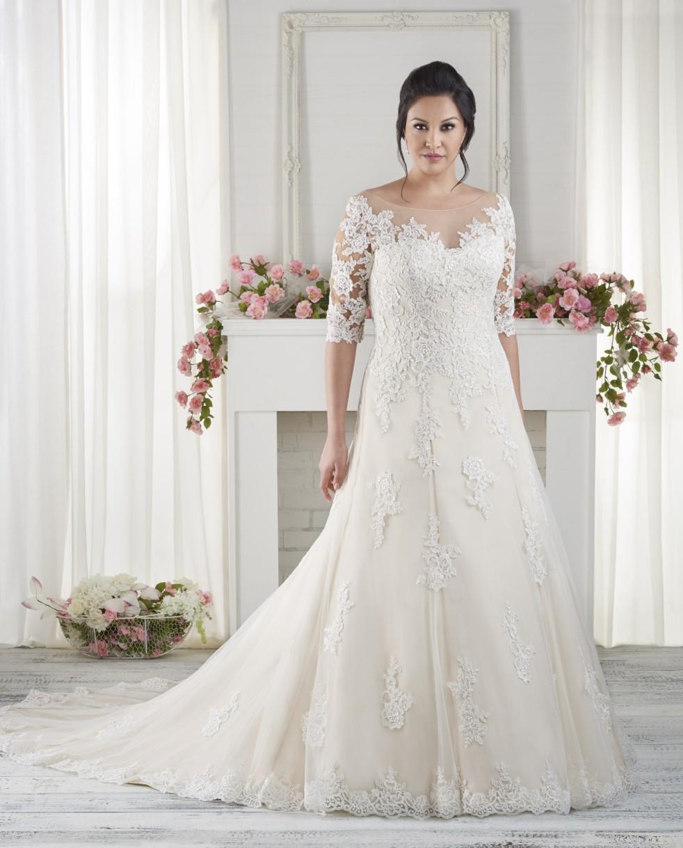 Full figured bridal gowns kathryn 39 s bridal blog for Wedding dresses for fuller figures