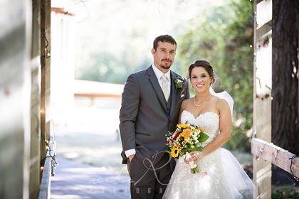 Beth in Prinia with groom