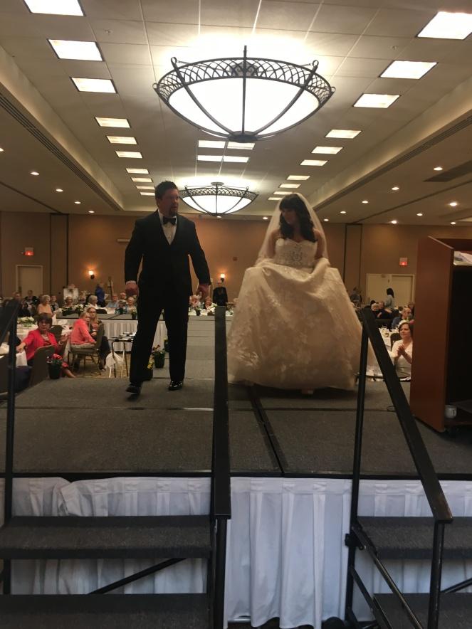 runway bride and groom